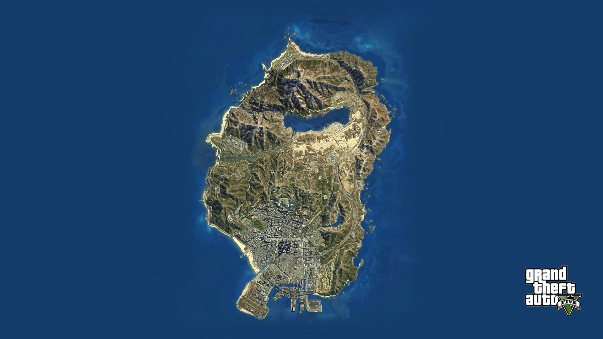 GTA V Map Wallpaper 1080p   GTA V   GTAForums 1920x1080