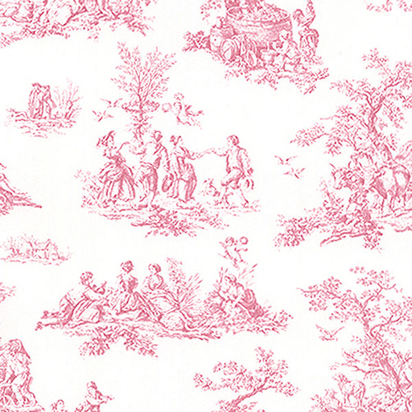 PRETTY PRINTS 3 PINK FRENCH COUNTRY SIDE TOILE WALLPAPER   PP27801 600x600