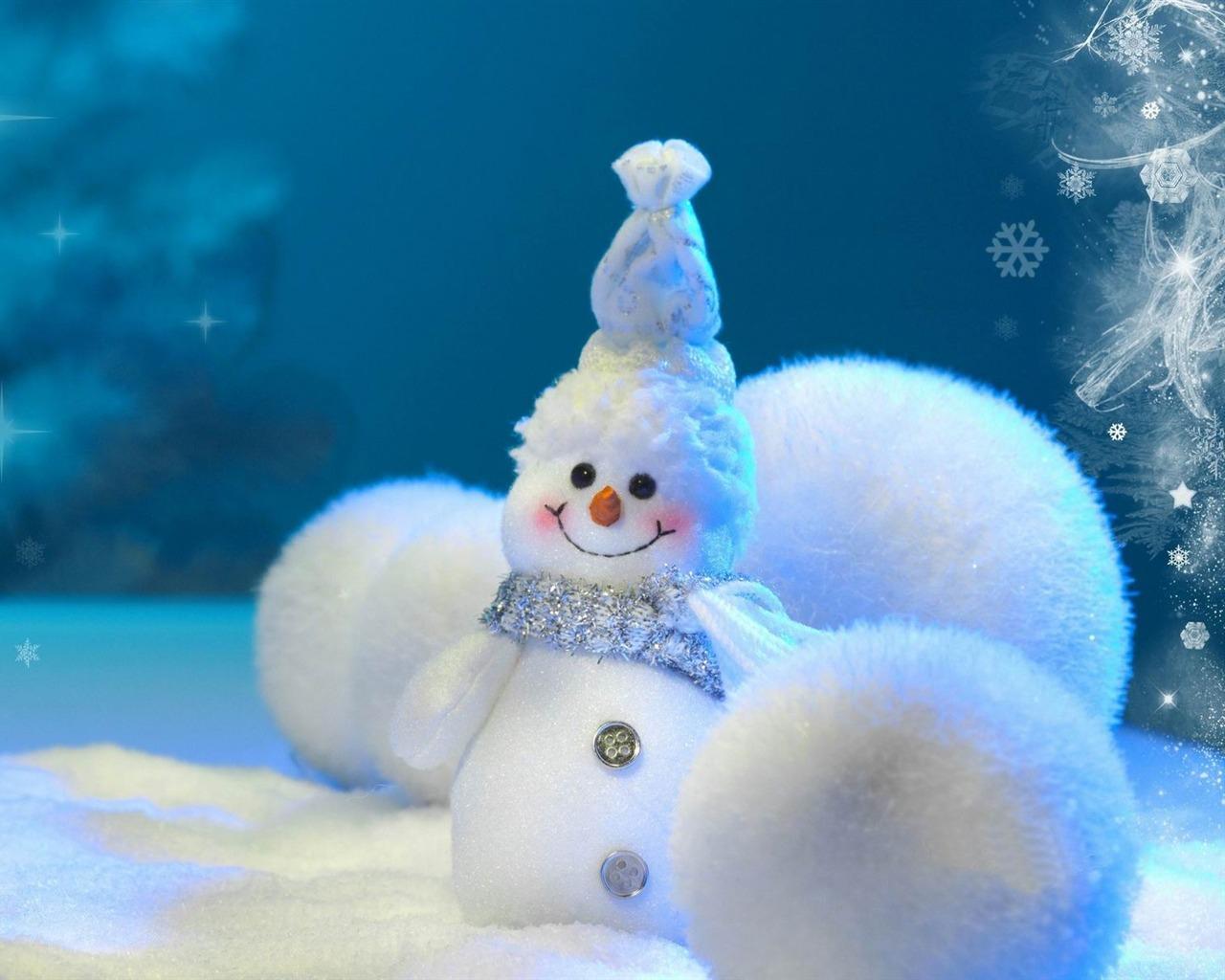 cute snowman Christmas HD computer wallpaper 02   1280x1024 wallpaper 1280x1024