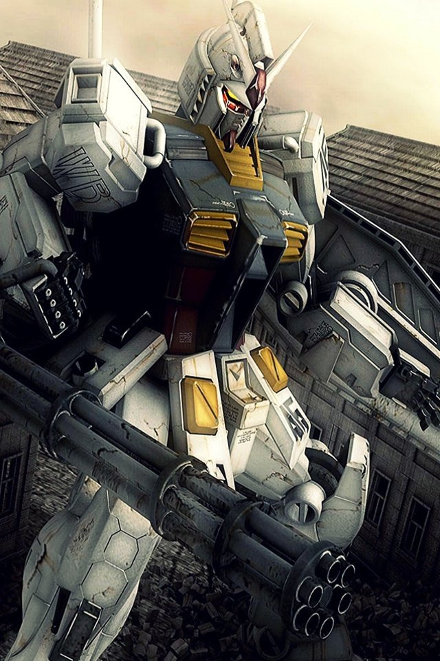 iPhone background Gundam from category cartoons wallpapers for iPhone 640x960