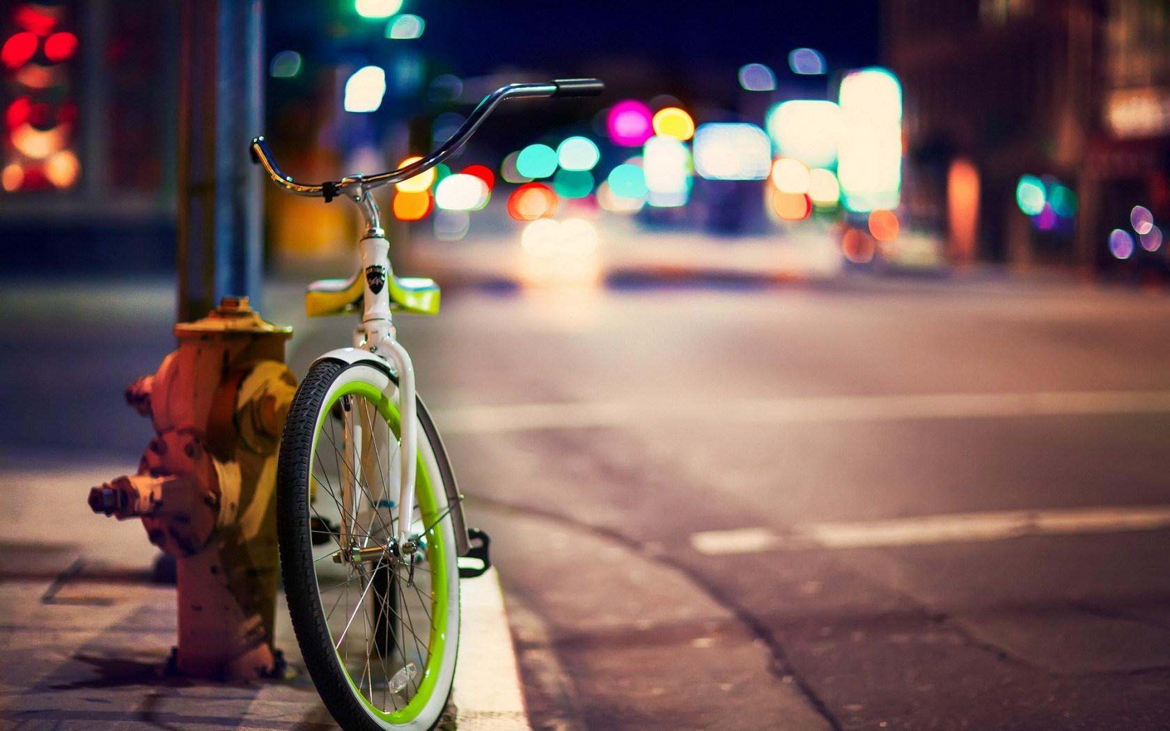 Bicycle City Street Hd Wallpaper