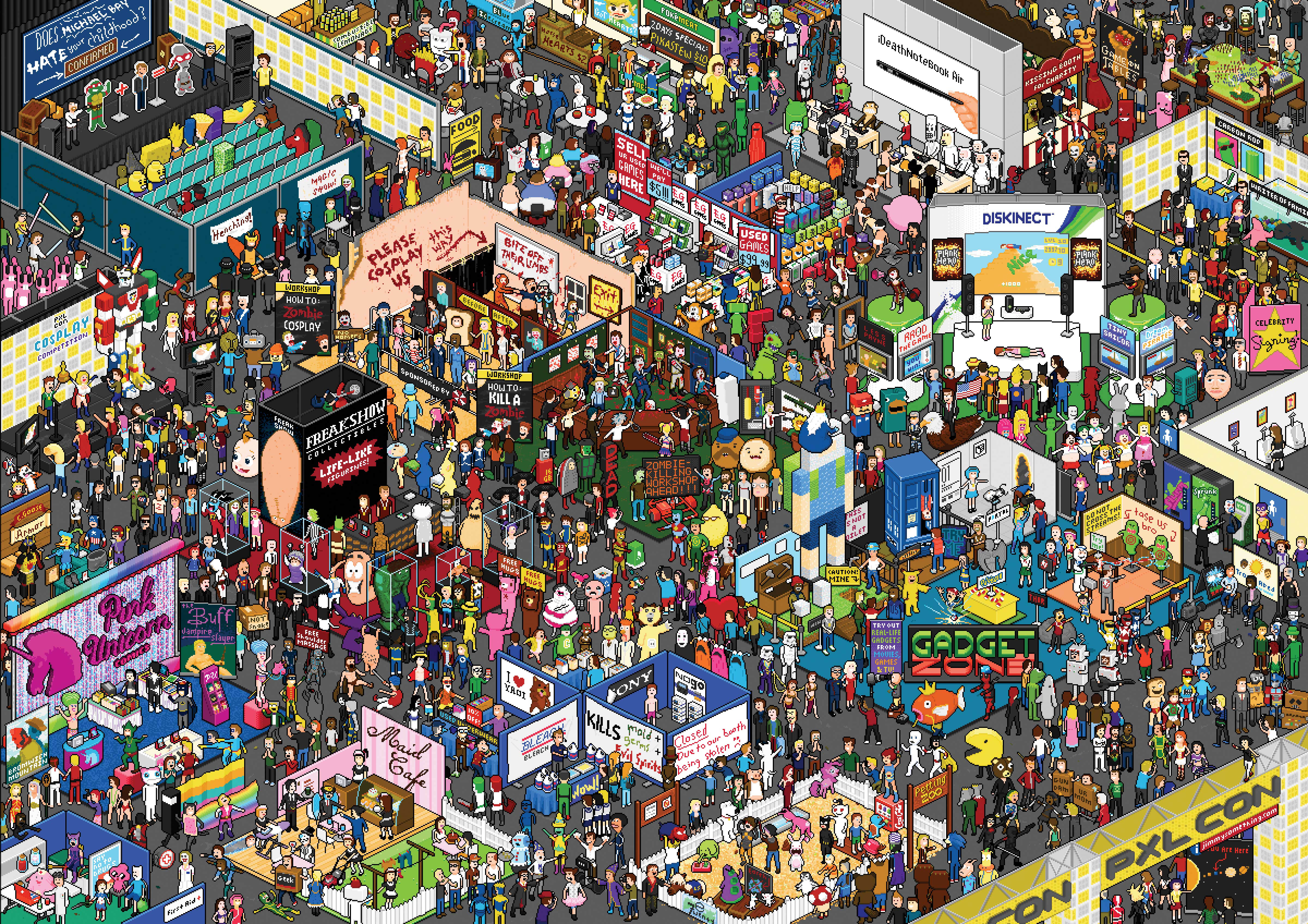 Wheres Waldo Cartoon Wallpapers WallpapersIn4knet 4800x3392