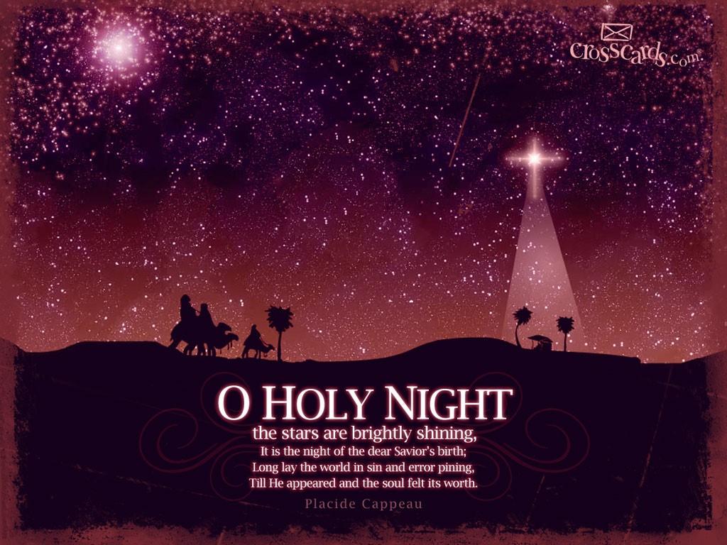 O Holy Night Desktop Wallpaper   Seasons Computer and 1024x768