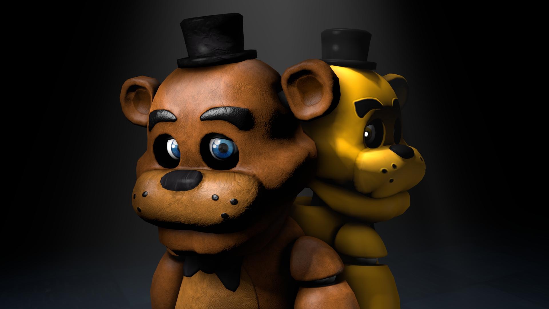 Freddy and Golden Freddy by TalonDang 1920x1080