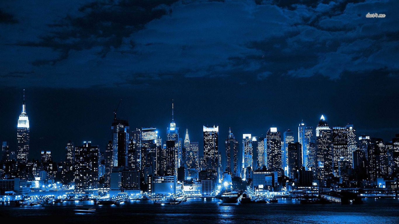 City skyline wallpapers wallpapersafari - Skyline night wallpaper ...