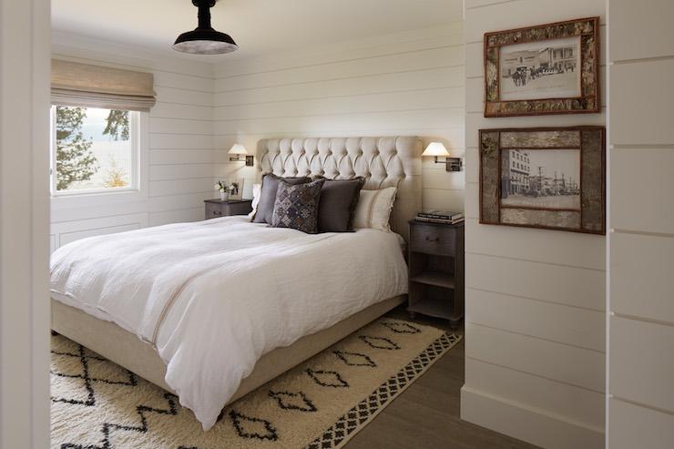 Beige Linen Tufted Headboard Cottage bedroom Artistic Designs for 740x493