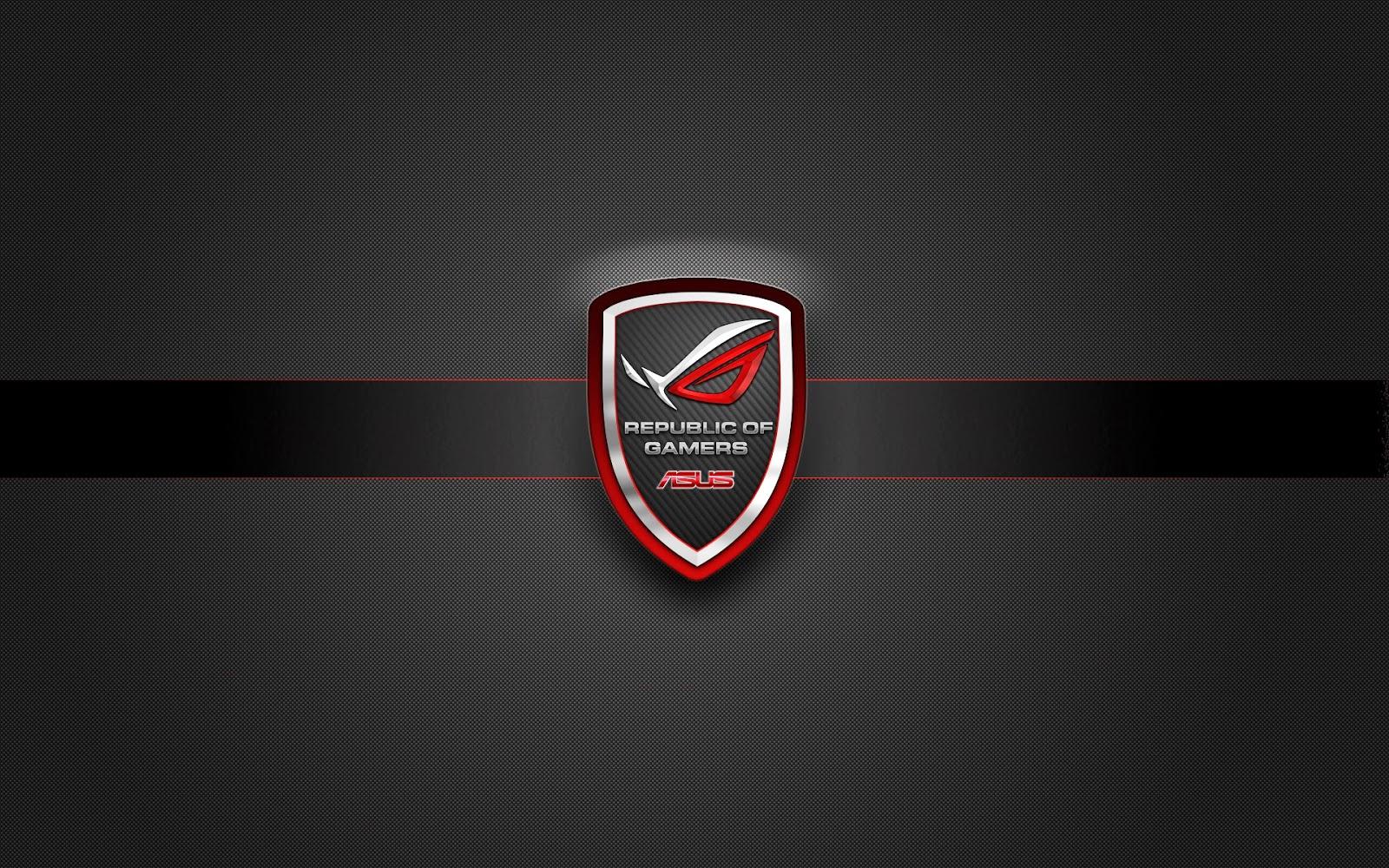 asus rog badge logo republic of gamers wallpaperjpg 1600x1000