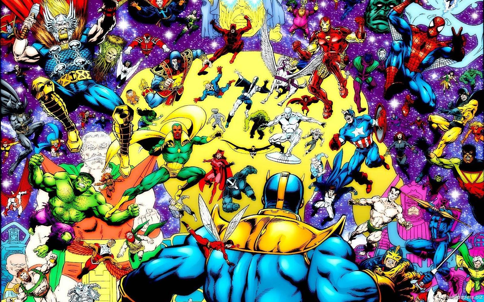 Book comic marvel wallpaper wallpapersafari - Marvel retro wallpaper ...