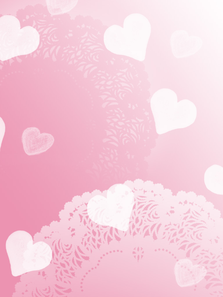 Pretty Pink Heart Backgrounds 768x1024