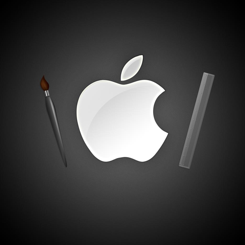 iPad Wallpapers High resolution apple logo   Apple iPad iPad 2 iPad 1024x1024