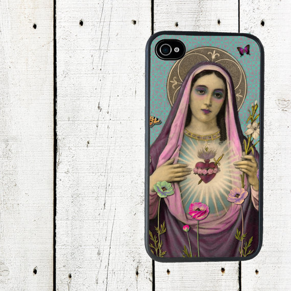 Virgin Mary Blessed Heart Phone Case for iPhone 4 4s 5 5s 5c