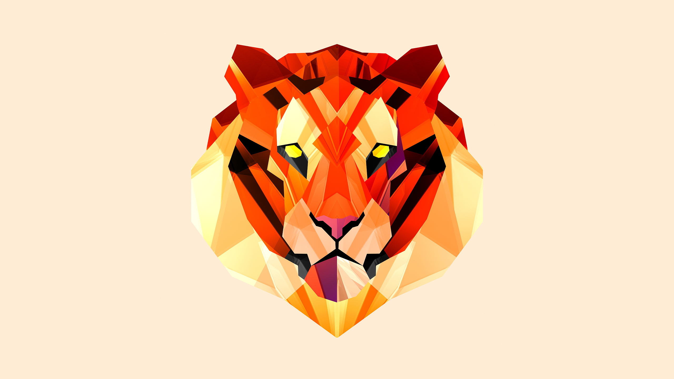 Geometric Animal Wallpaper The Art Mad Wallpapers 2560x1440