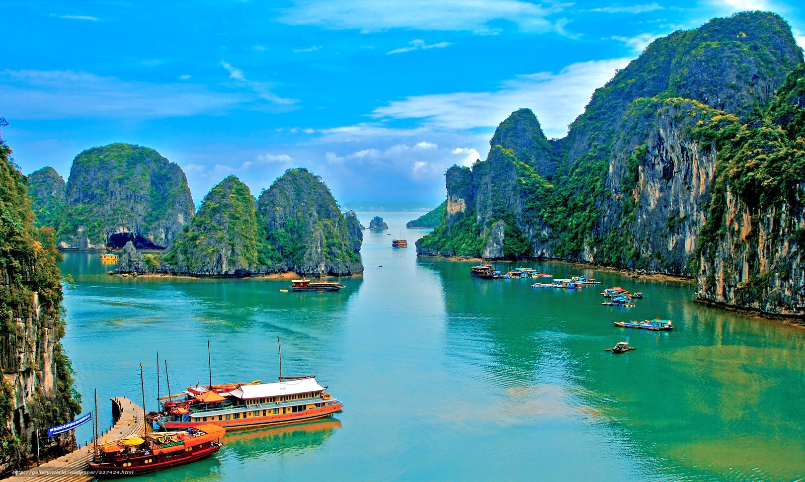 Download wallpaper tropics sea Vietnam desktop wallpaper in the 1600x958