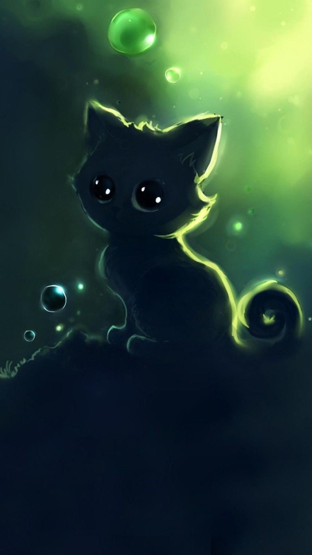 [35] Kawaii Anime Cat HD Wallpapers Desktop Background 1080x1920