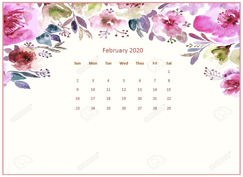 February 2020 Desktop Calendar Wallpapers Calendar wallpaper 842x614