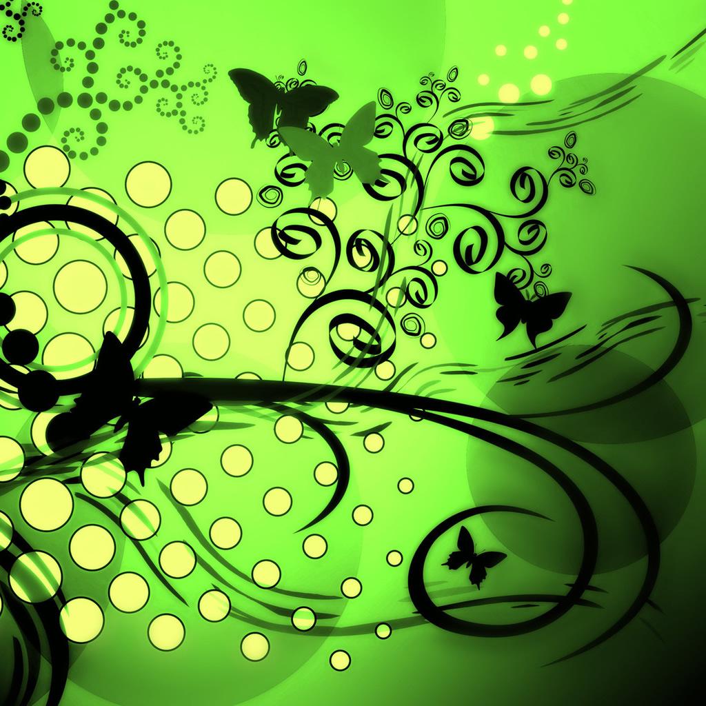 Green Butterflies Wallpaper Butterflies 2 ipad wallpaper 1024x1024