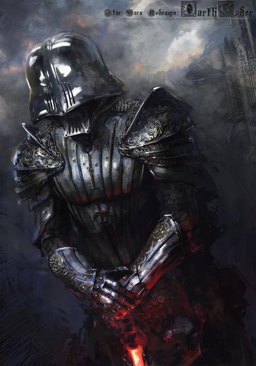 Medieval Darth Vader by Warsaw Poland based Klaus Wittmann 500x716