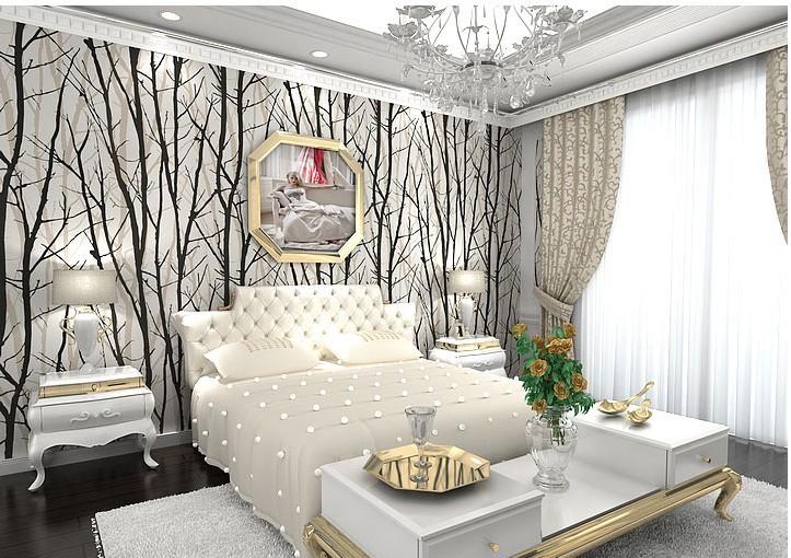 Com buy pvc 3d wall murals wallpaper woods tree pattern striped wall 723x510