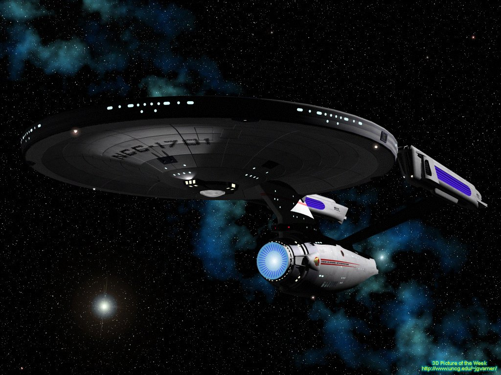 Wallpaper for Windows XP desk top wallpaper 3D picture of Star Trek 1024x768