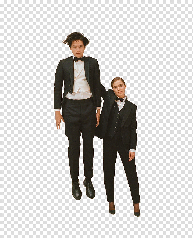 HALEY LU RICHARDSON Y COLE SPROUSE transparent background PNG 800x987