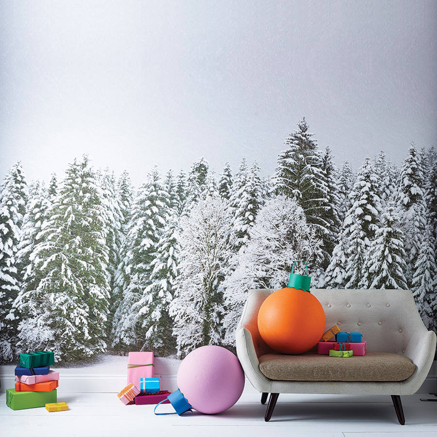 original snowy trees self adhesive wallpaper muraljpg 900x900