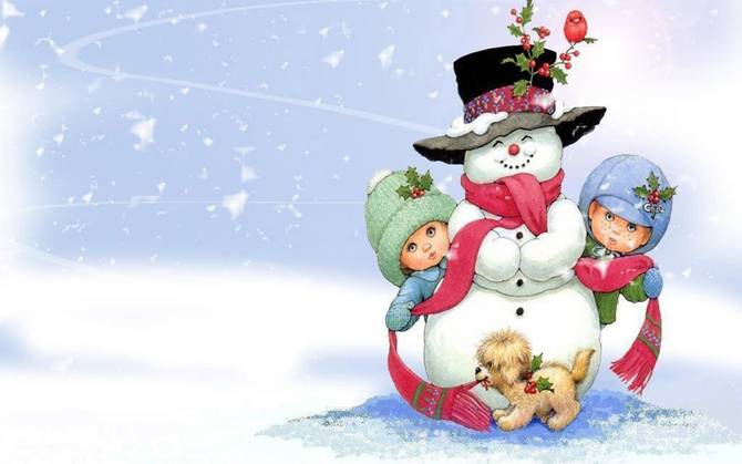 Christmas Wallpapers Children Wallpapers of Christmas 670x419