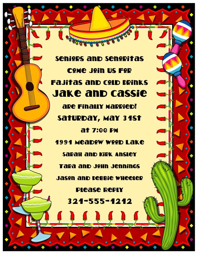 Mexican Fiesta Border Party Paper No 631x811