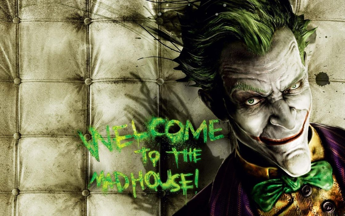 Video games the joker batman arkham asylum wallpaper 1920x1200 1120x700