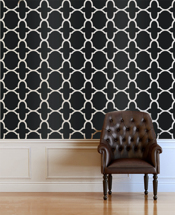 Stam Morocco Inspired Designer Pattern Stencil for Walls Wallpaper 569x700