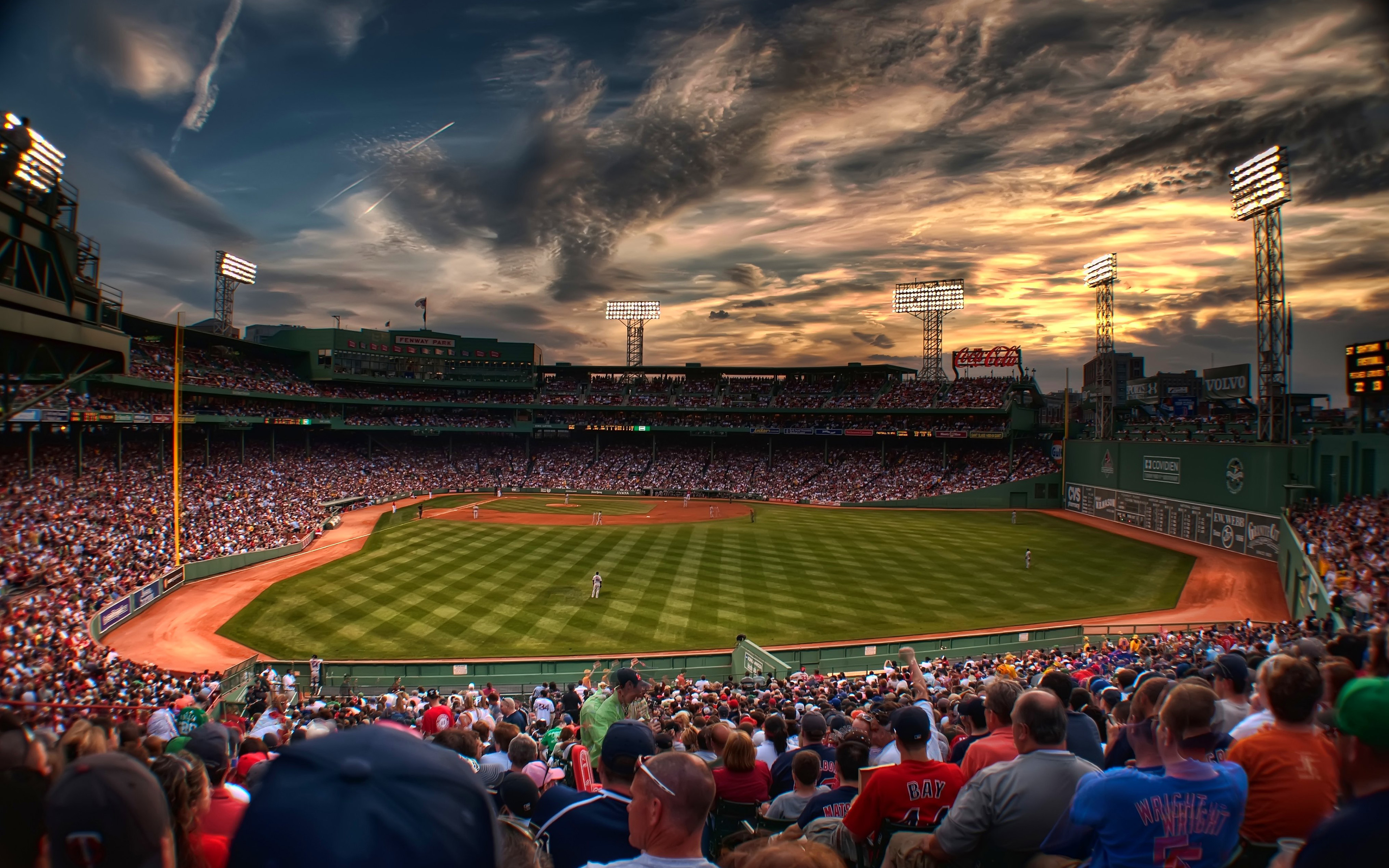 Boston Red Sox Fenway Park MLB   Clip Art Library 3840x2400