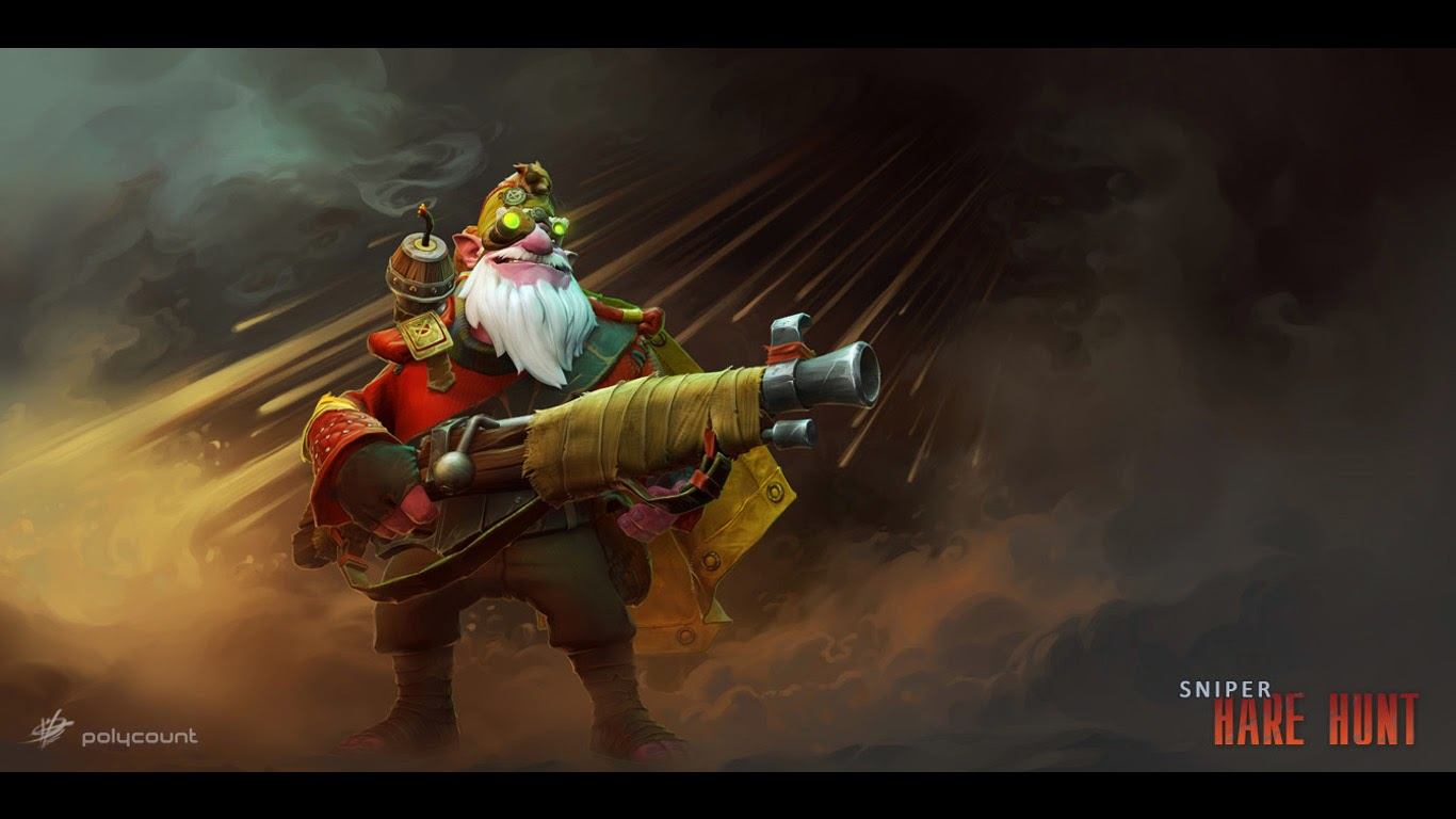 Dota 2 Kardel Sniper V7 Wallpaper HD 1366x768