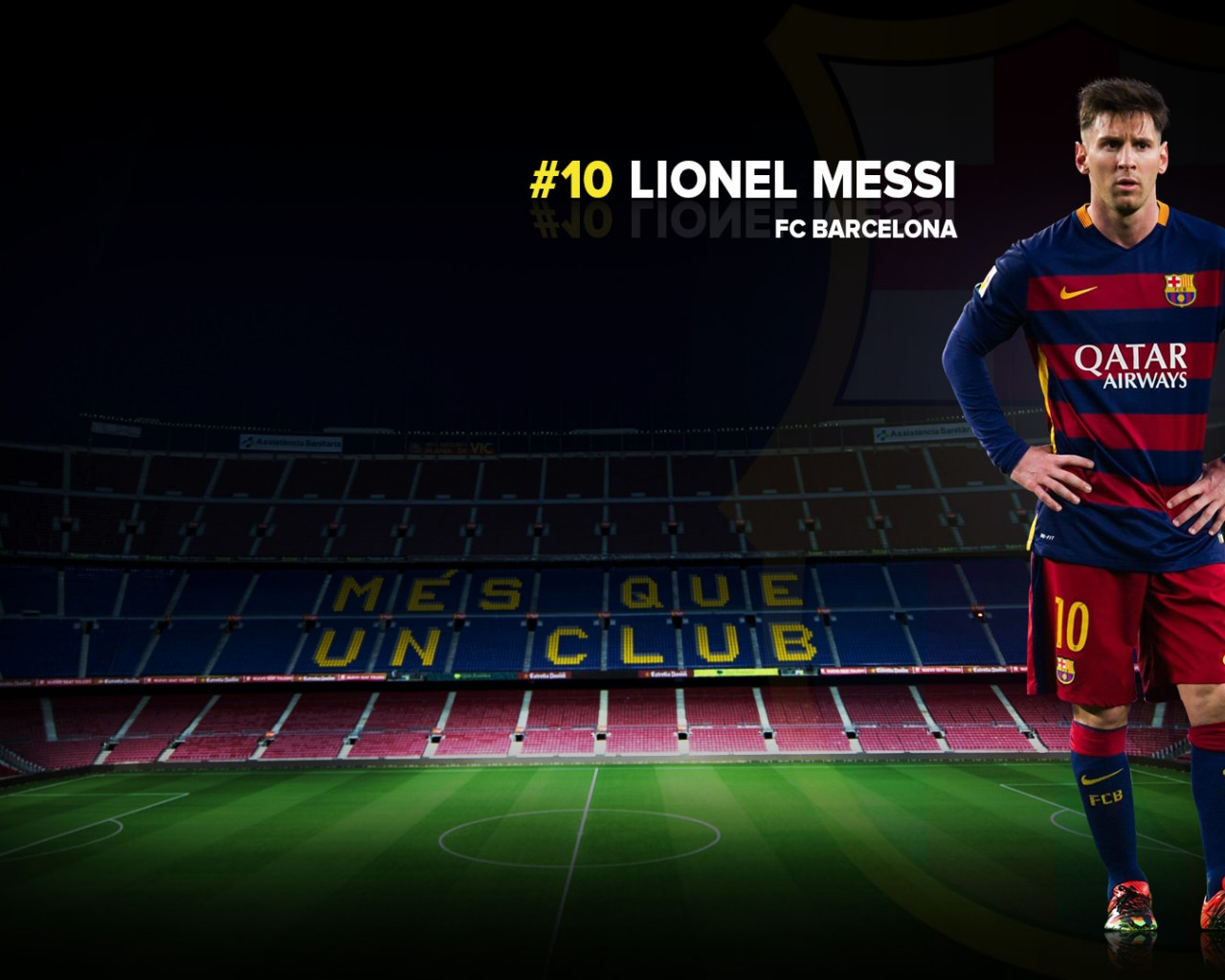Lionel Messi FC Barcelona 20152016 Wallpaper   Football Wallpapers HD 1280x1024