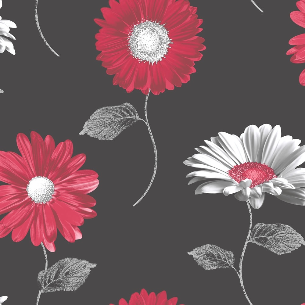 Home Wallpaper Muriva Muriva Daisy Floral Wallpaper 111501 1000x1000