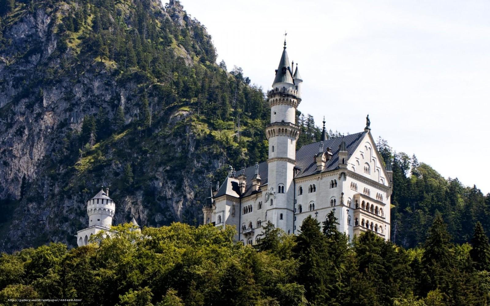 wallpaper bavaria castle Germany Mountains desktop wallpaper 1600x1000