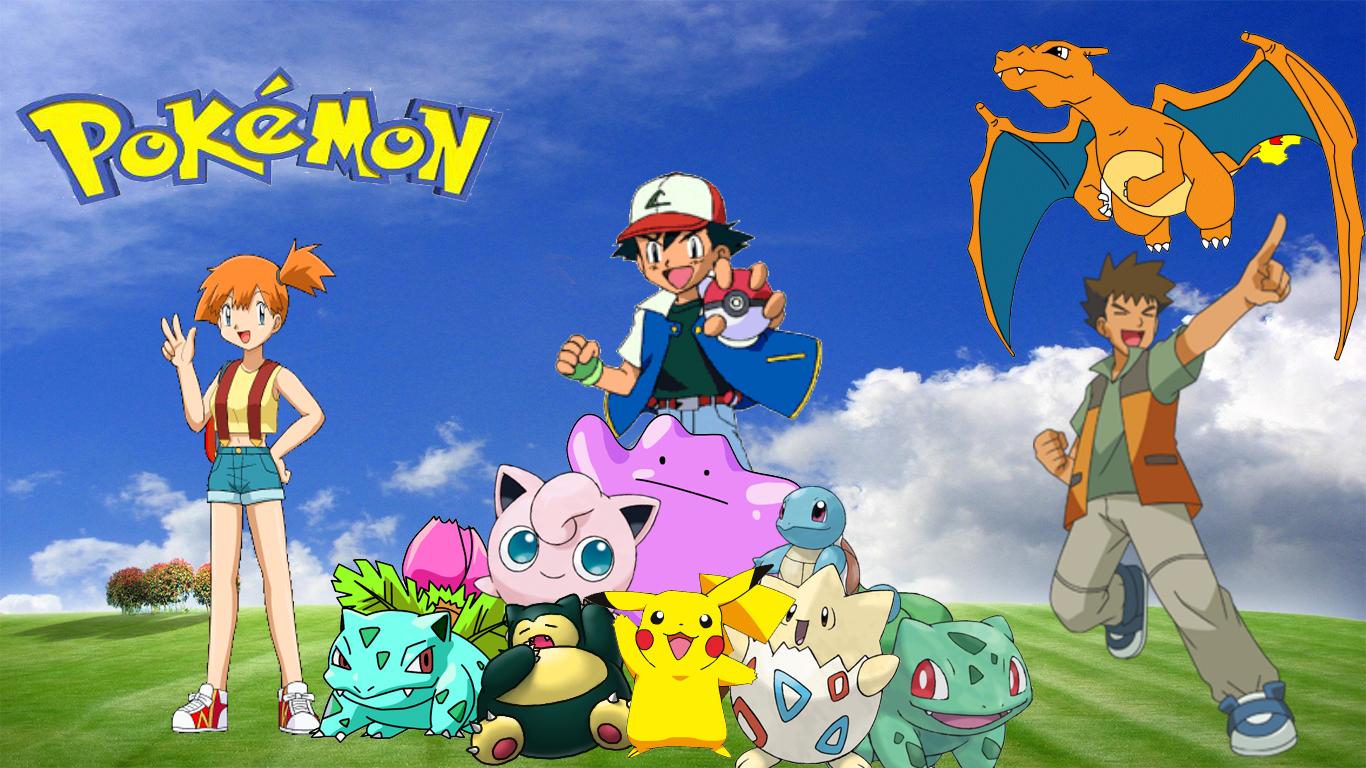 pokemon desktop wallpaper by haloking931 fan art wallpaper games 2011 1366x768