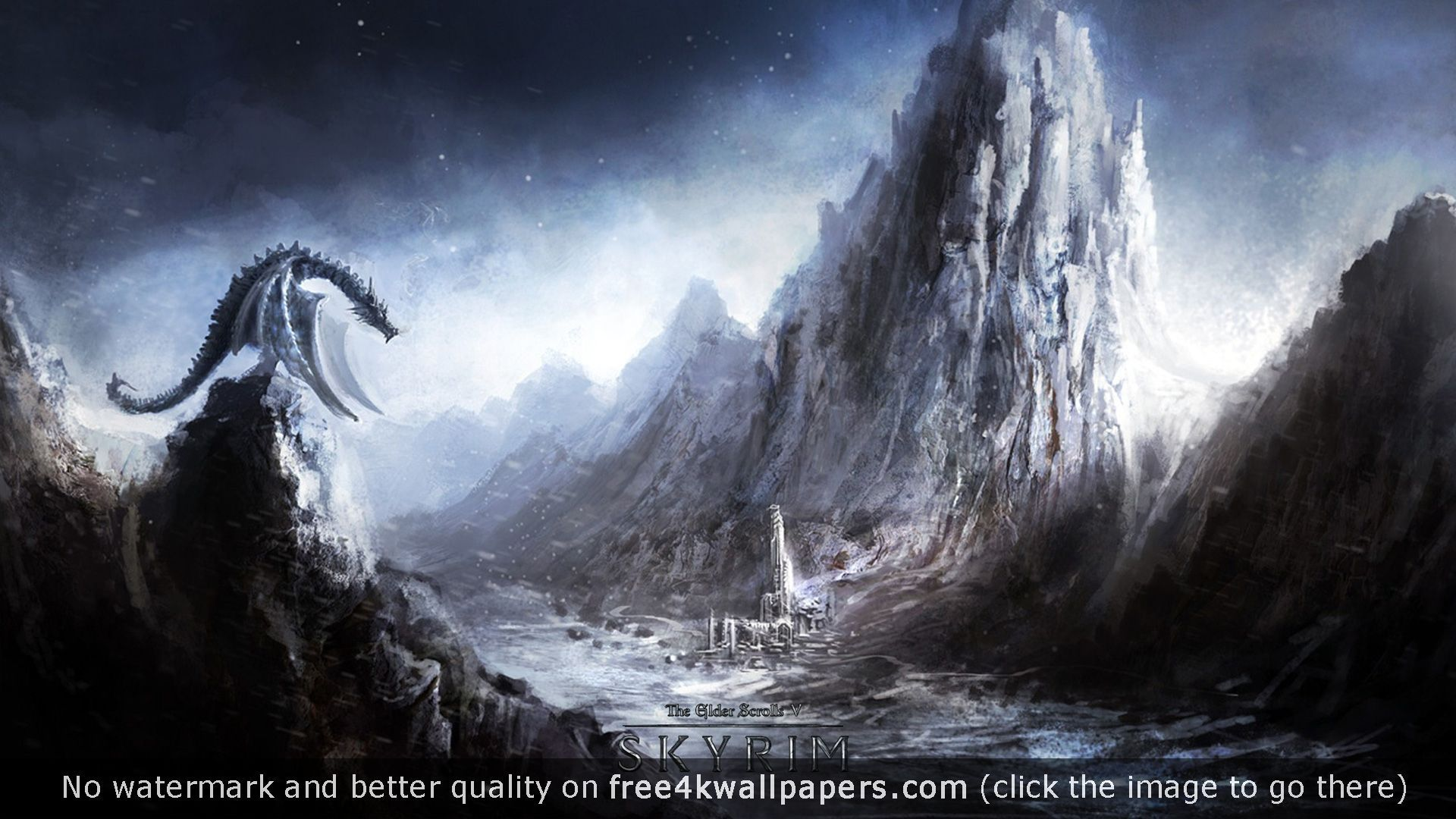 Skyrim Dragonborn 4K or HD wallpaper for your PC Mac or Mobile device 1920x1080