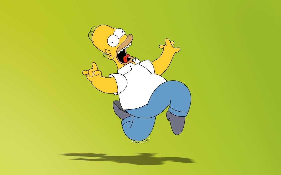 Download mobile wallpaper Cartoon Homer Simpson The Simpsons 1120x700