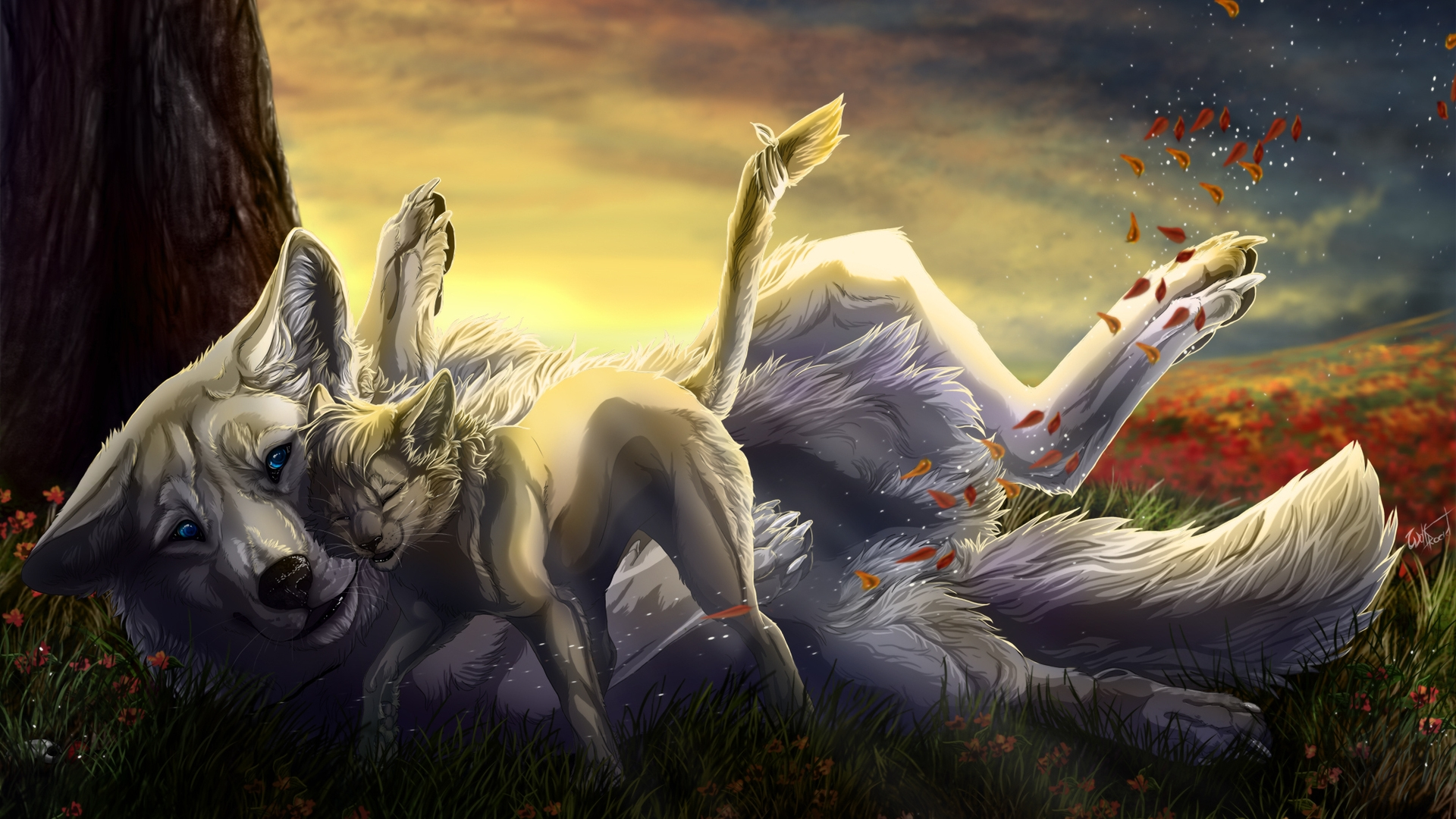 Cool Anime Wolf Wallpapers - WallpaperSafari