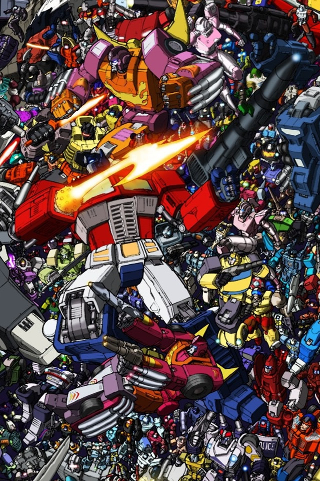 Transformers Collage iPhone 4s Wallpaper Download iPhone Wallpapers 640x960