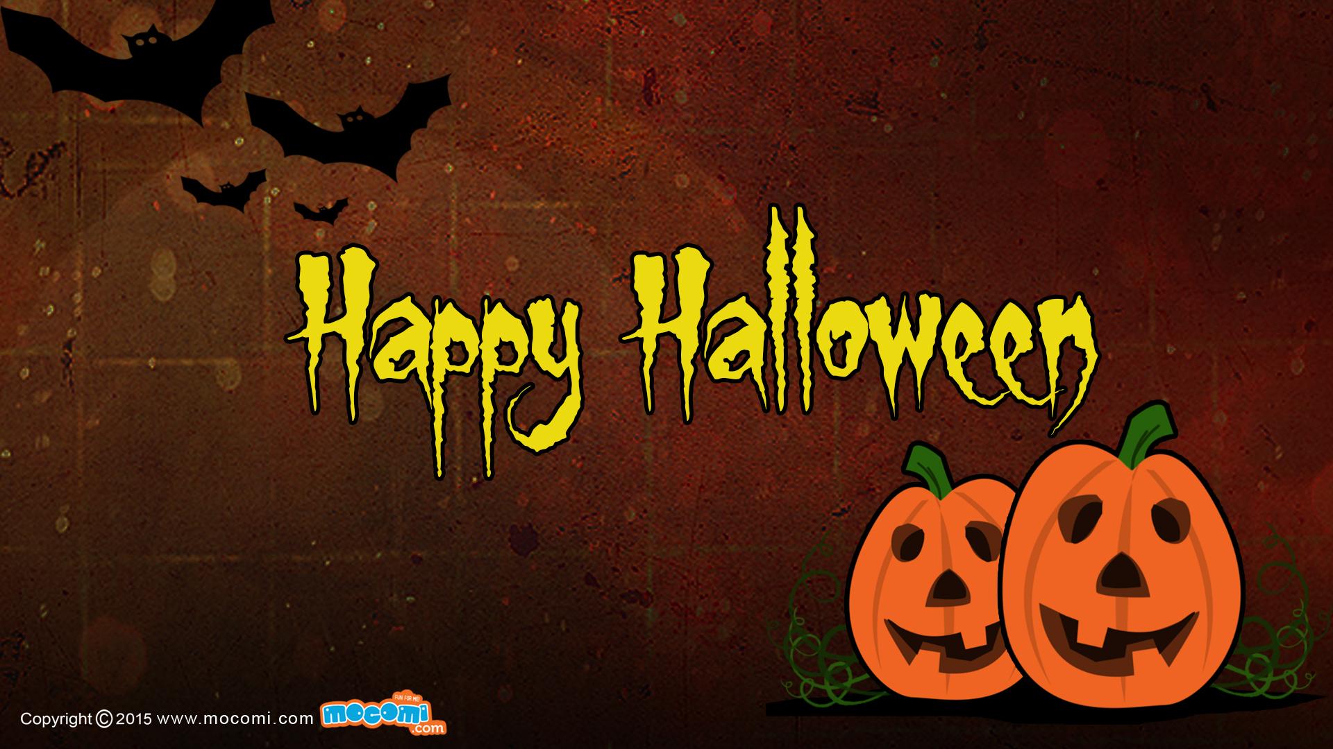 Happy Halloween   02   Desktop Wallpaper for Kids Mocomi 1920x1080
