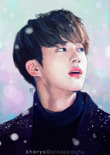 BTS images Jin Fanart HD wallpaper and background photos 353x500