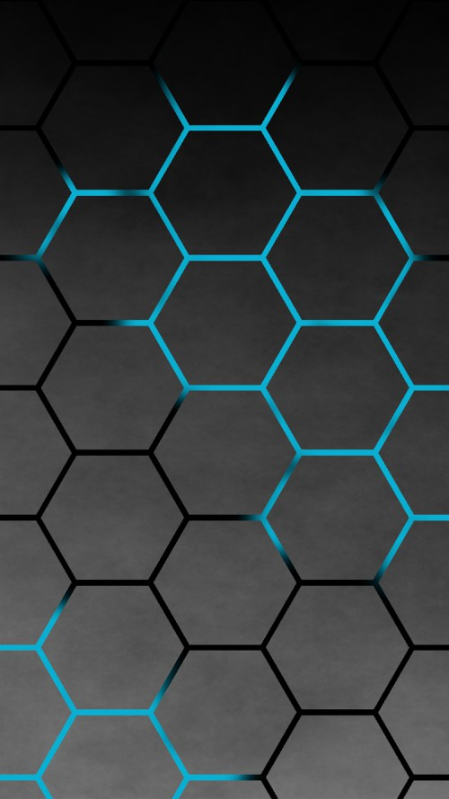 Black Hexagon Pattern for iPhone Background for iPhone 6 and iPhone 6s 500x889