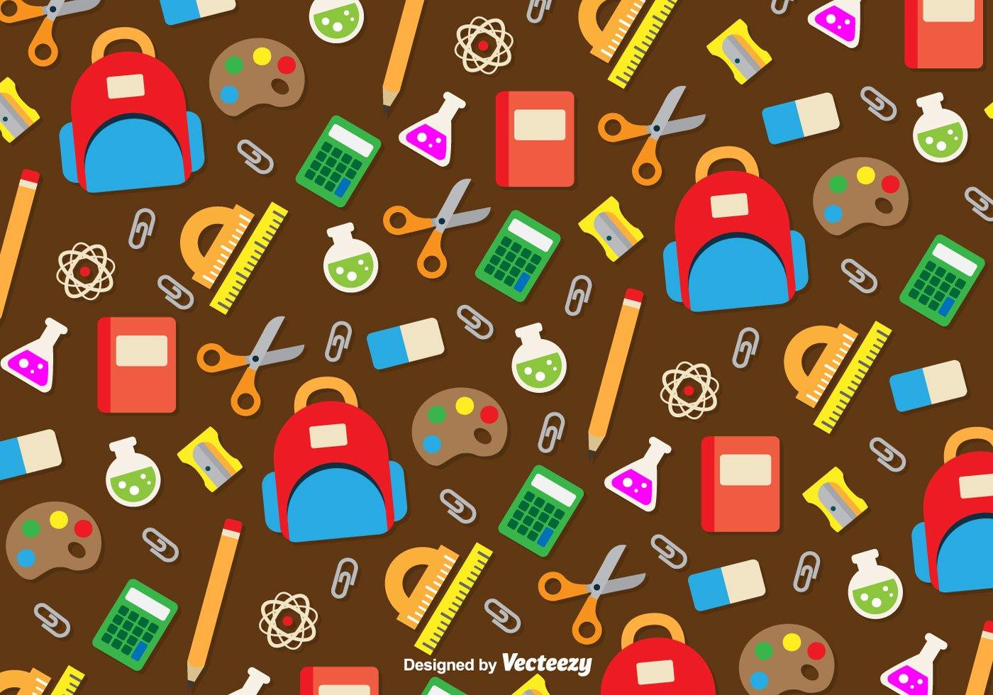 School utensils icons background   Download Vector 1400x980