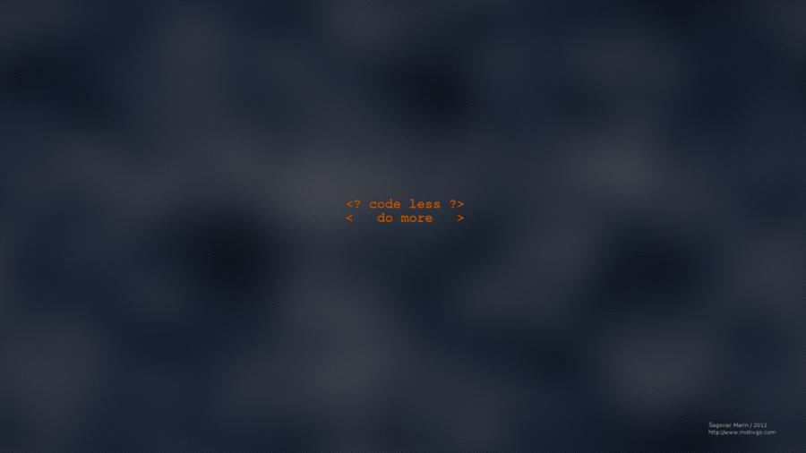 FULL HD] Code less wallpaper by msagovac 900x506