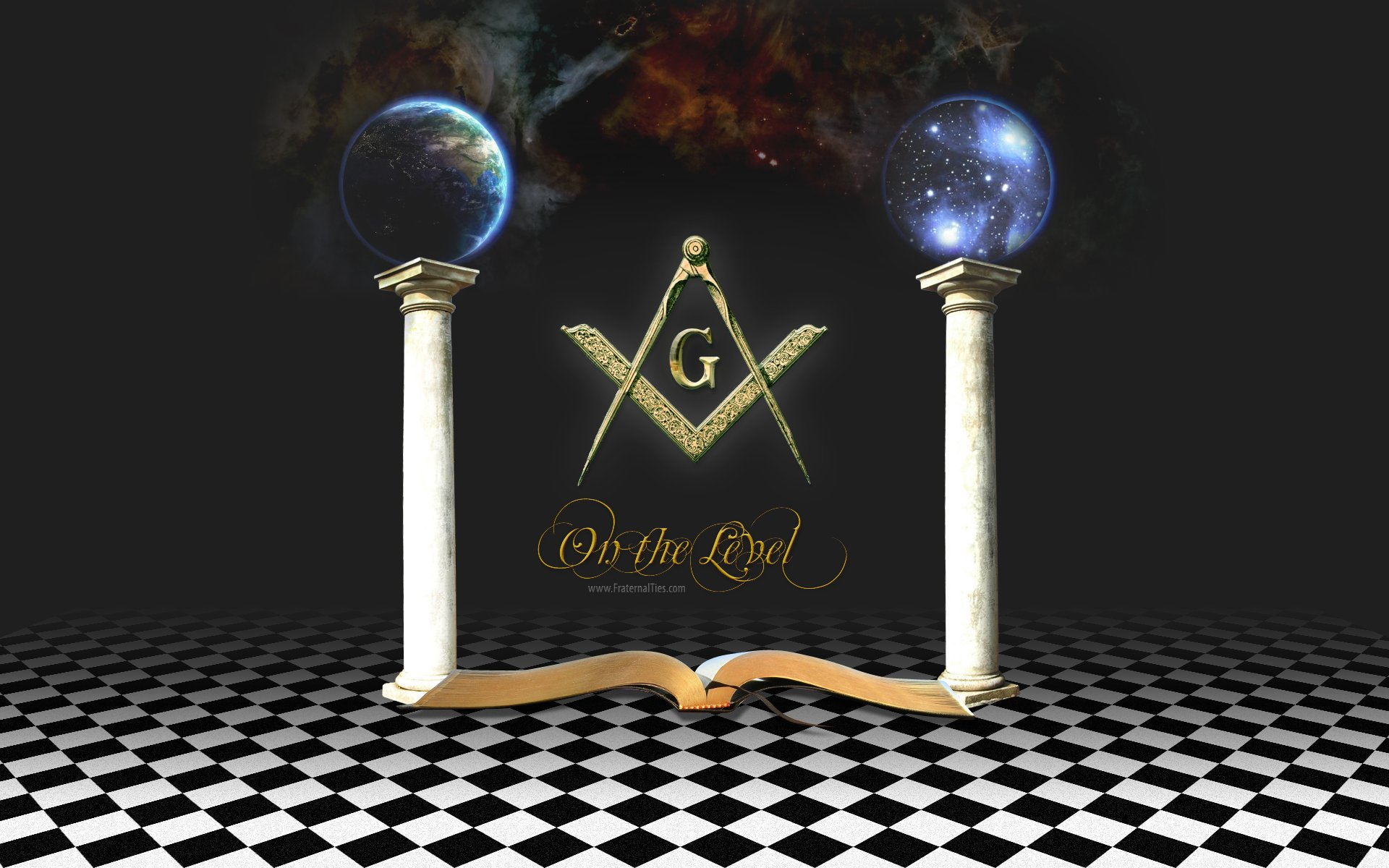 Black Masonic Art Freemasonry 1920x1200