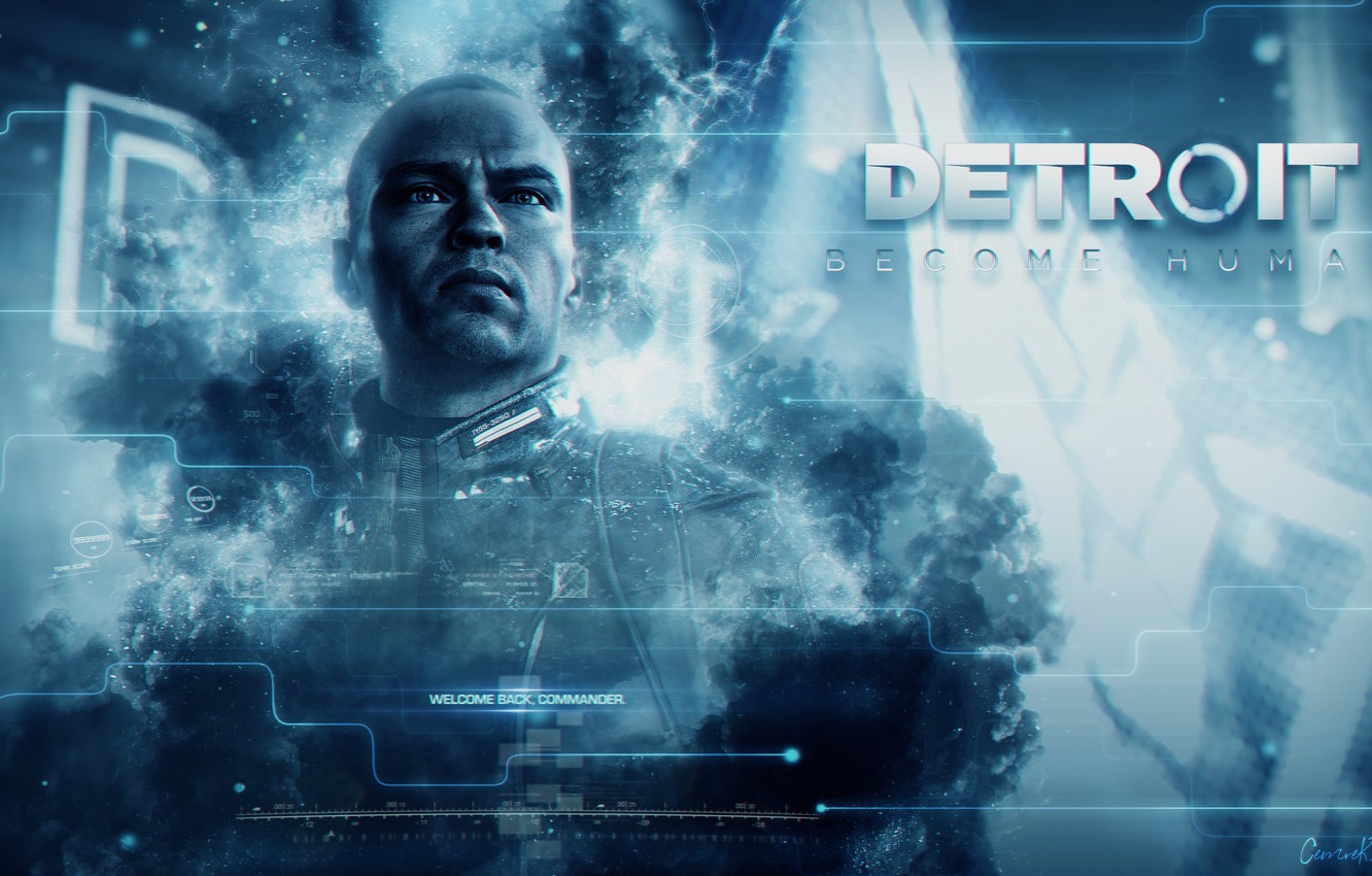 Wallpaper blue the game game Android android blue the leader 1332x850