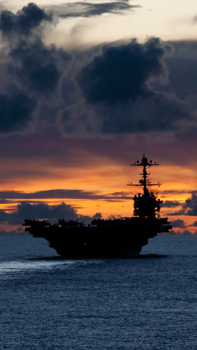 iPhone 5 wallpapers HD   Aircraft carrier us Backgrounds 640x1136