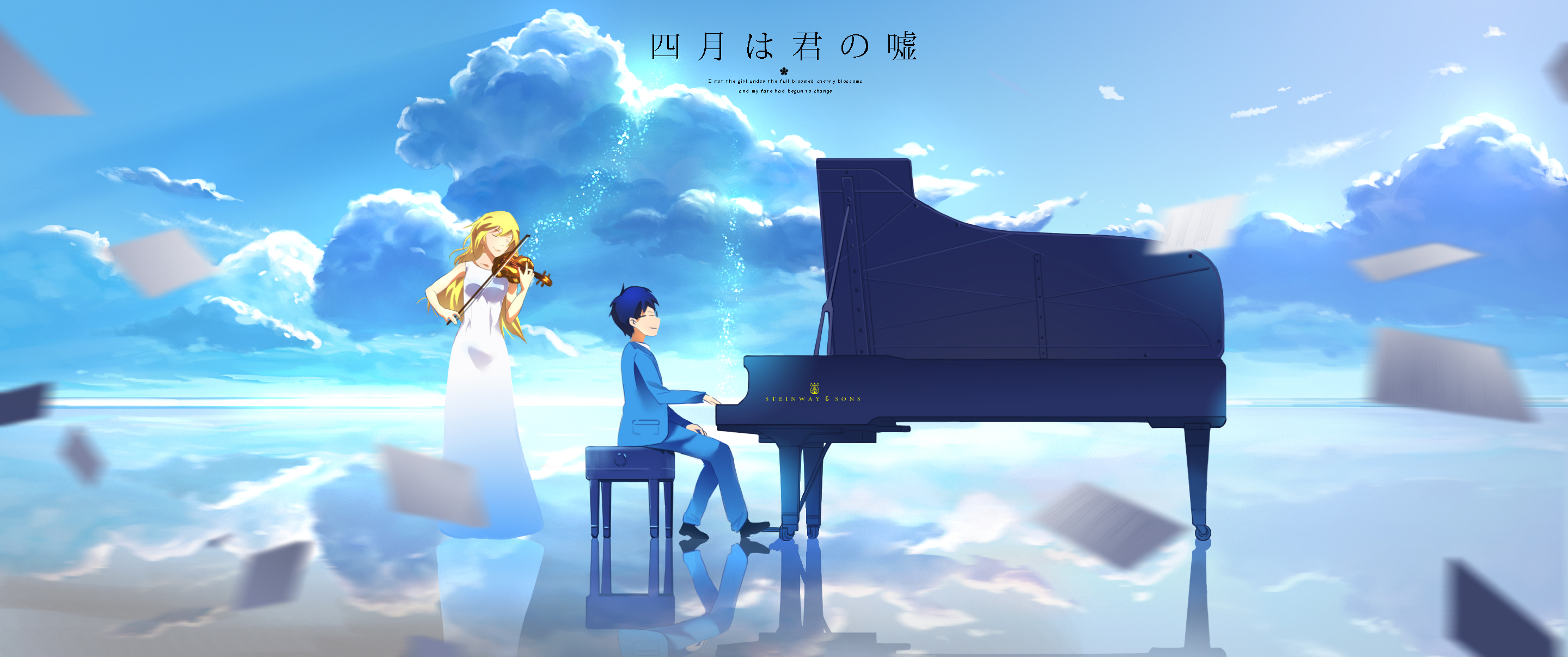 146 Your Lie in April HD Wallpapers Background Images 2879x1207