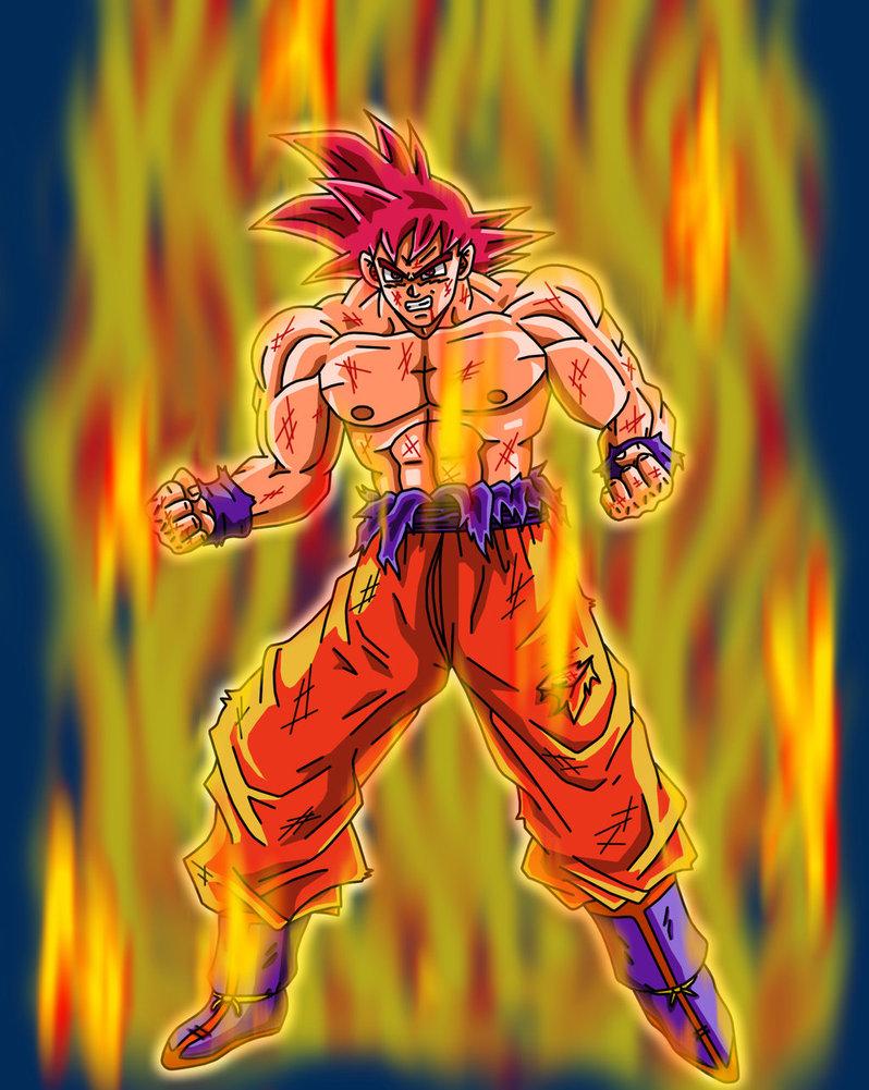 Wallpapers Goku Super Saiyan God - WallpaperSafari