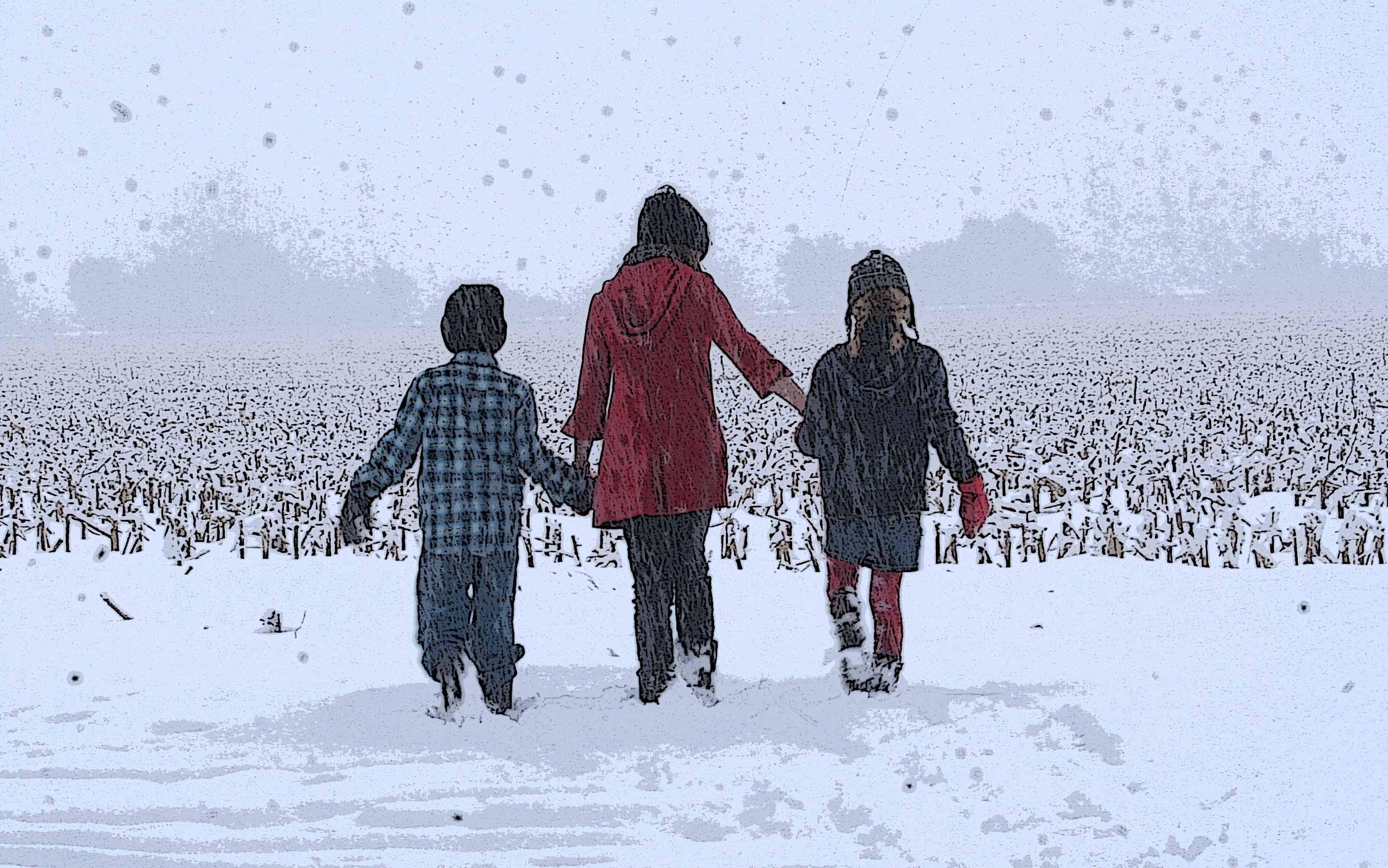 Barefoot In Snow   Sexy Wallpapers   Rainpowcom 2723x1704
